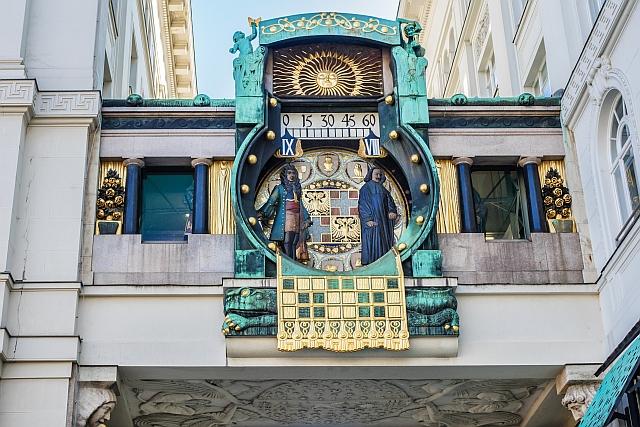 ankeruhr, anker clock, orloj vídeň