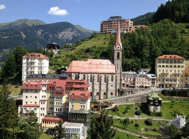 Bad Gastein, termály rakousko, lyžování rakousko